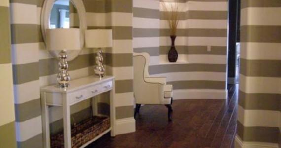 Amazing striped hallway